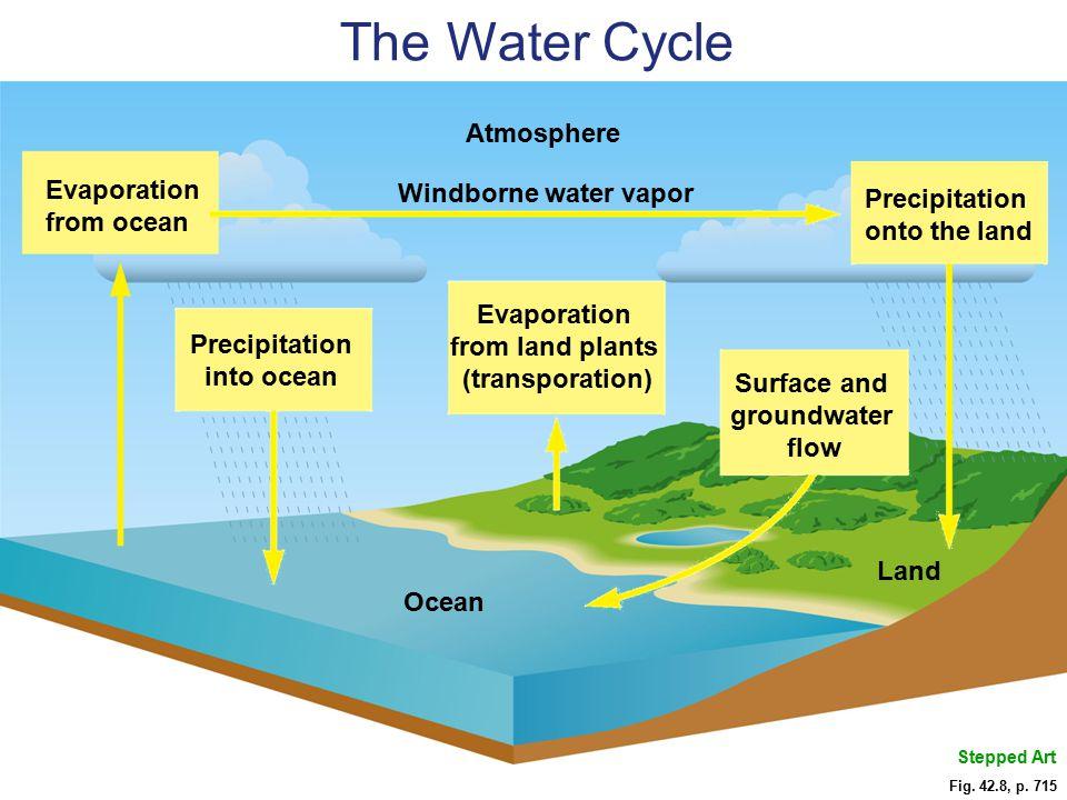 Precipitation into ocean