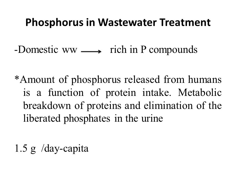 Phosphorus in Wastewater Treatment