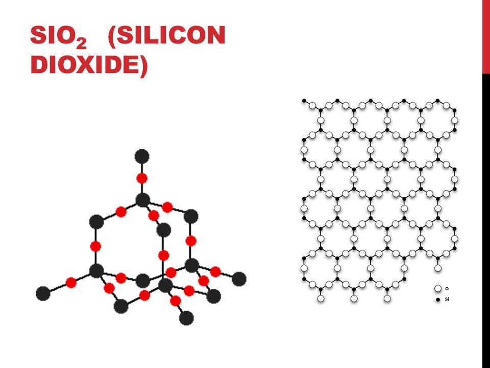 SiO2 (silicon dioxide)