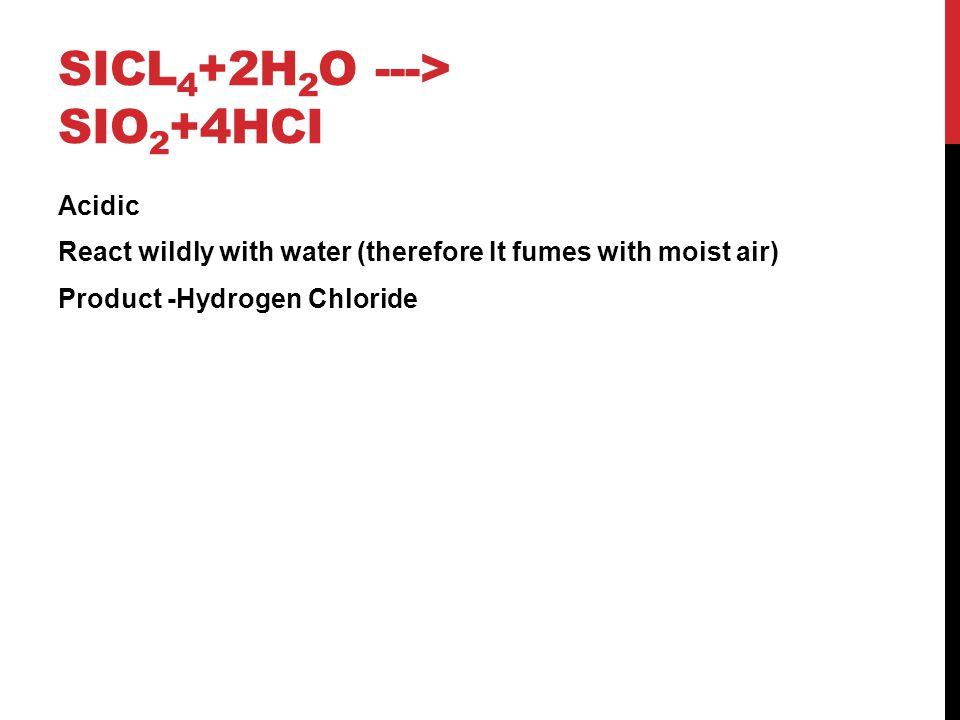 SiCl4+2H2O ---> SiO2+4HCI