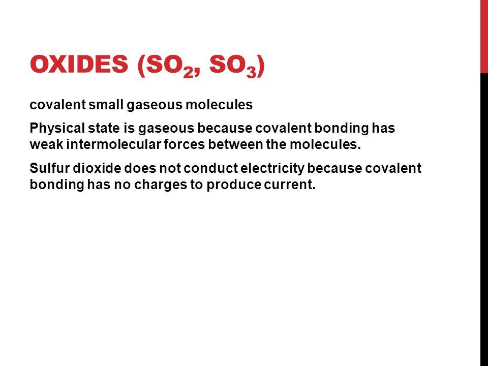 Oxides (SO2, SO3)