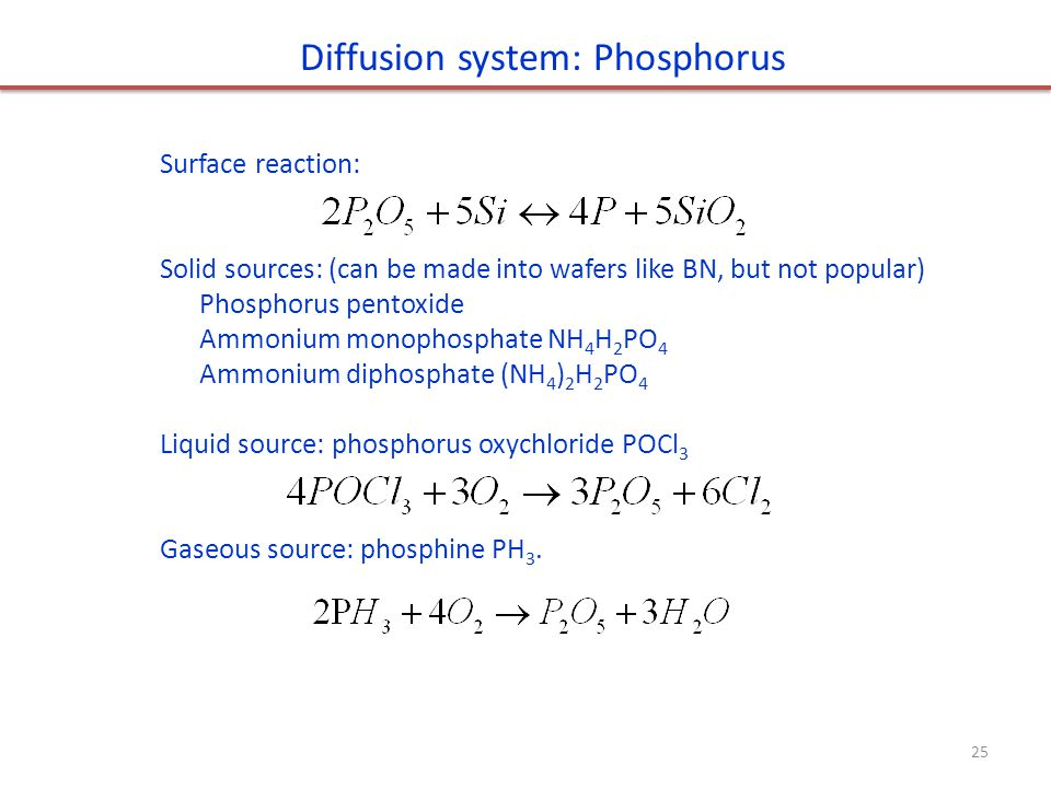 Diffusion system: Phosphorus
