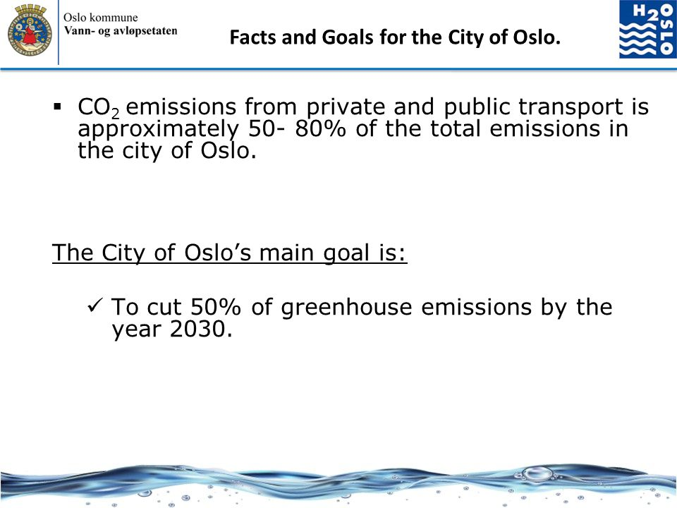 Facts and Goals for the City of Oslo.