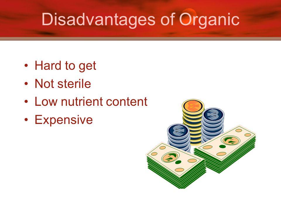 Disadvantages of Organic