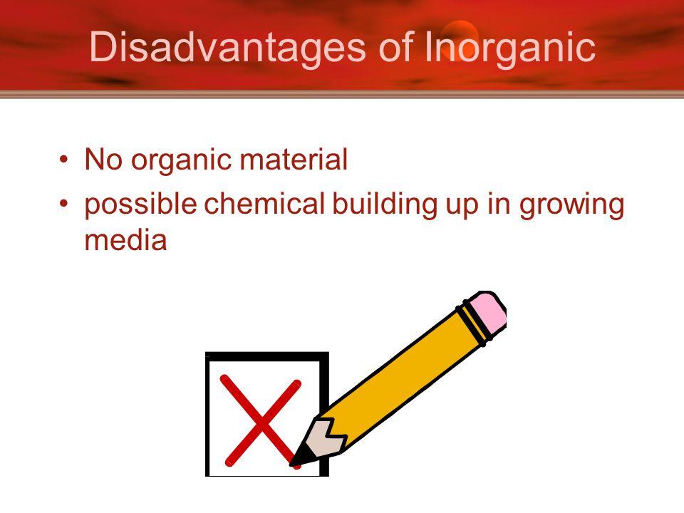 Disadvantages of Inorganic