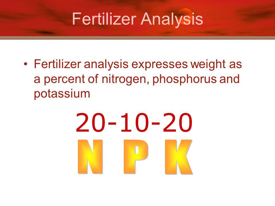 20-10-20 Fertilizer Analysis N P K