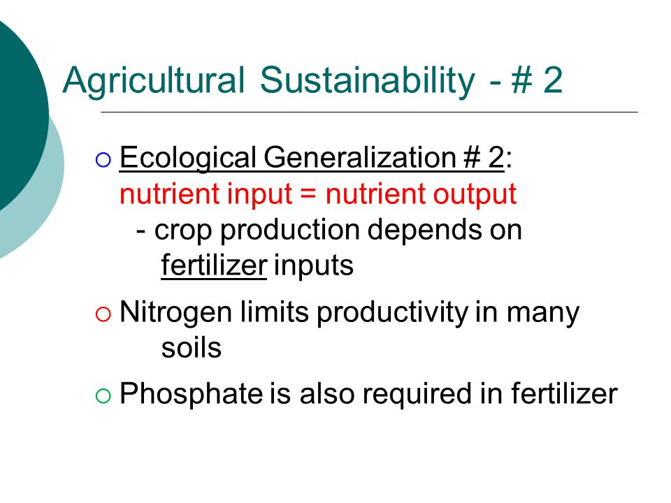 Agricultural Sustainability - # 2