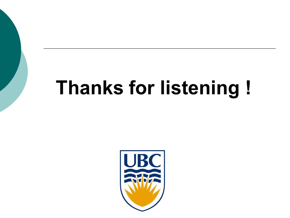 Thanks for listening !