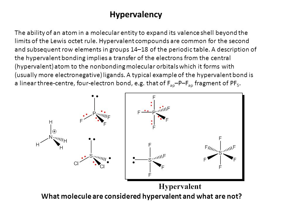 What molecule are considered hypervalent and what are not