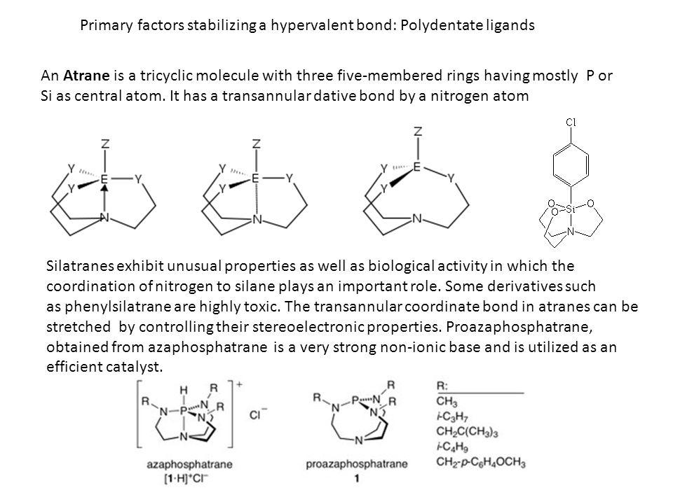 Primary factors stabilizing a hypervalent bond: Polydentate ligands