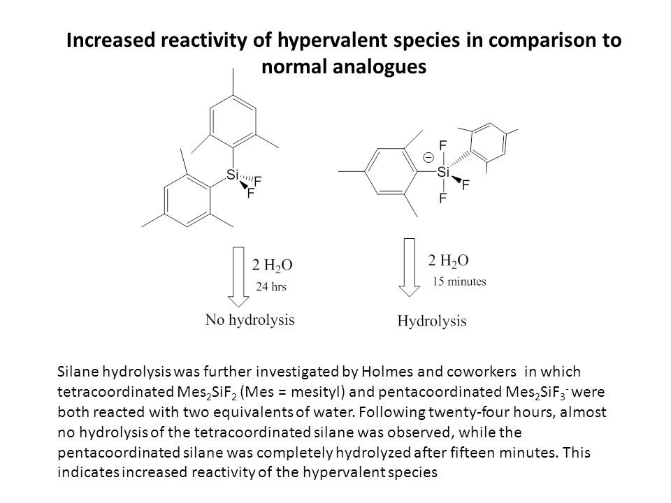 Increased reactivity of hypervalent species in comparison to normal analogues