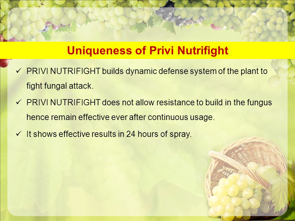 Uniqueness of Privi Nutrifight