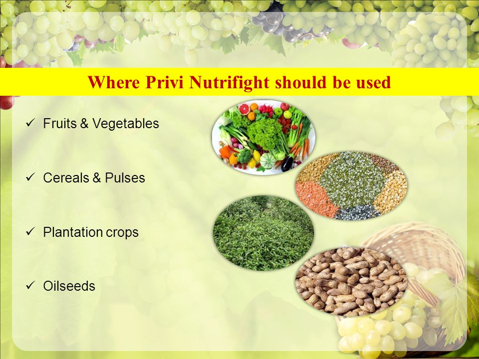 Where Privi Nutrifight should be used