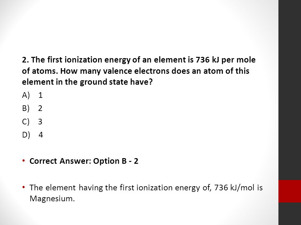 how to get the ionization energy of an element