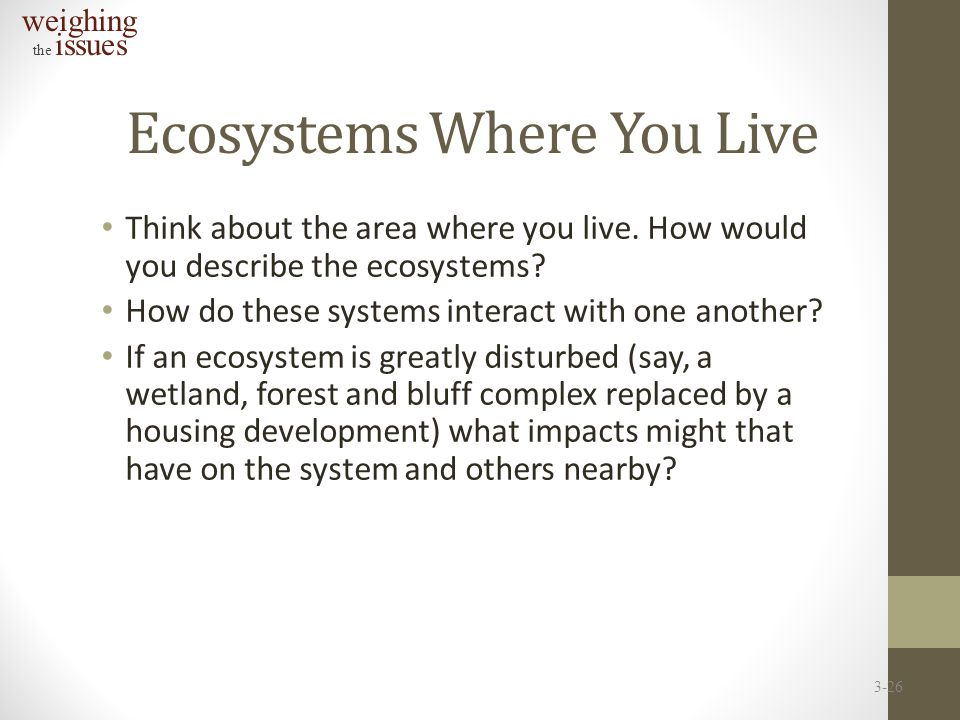 Ecosystems Where You Live