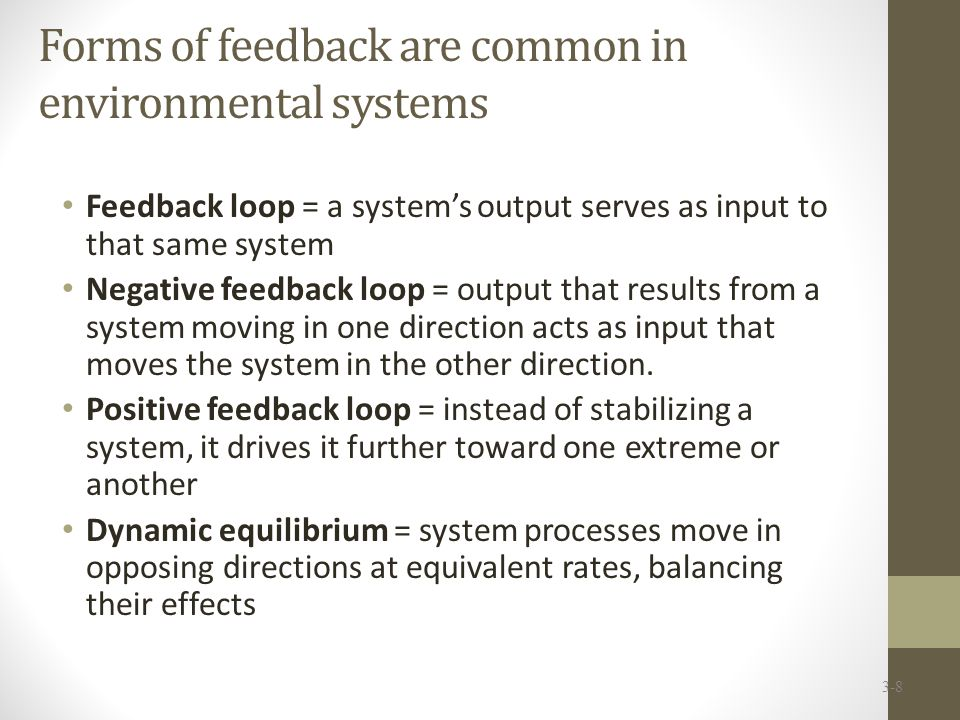 Forms of feedback are common in environmental systems