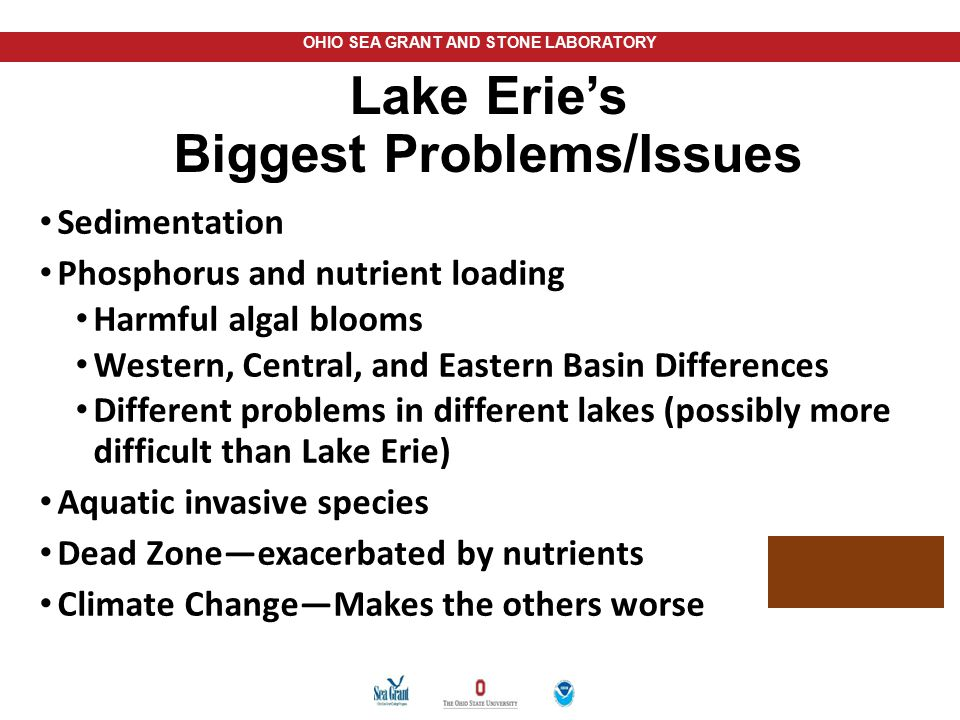 Lake Erie's Biggest Problems/Issues