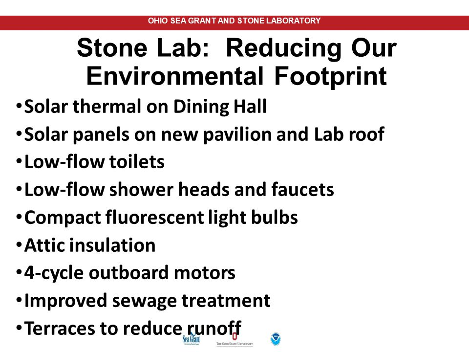Stone Lab: Reducing Our Environmental Footprint