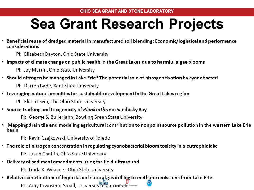 Sea Grant Research Projects