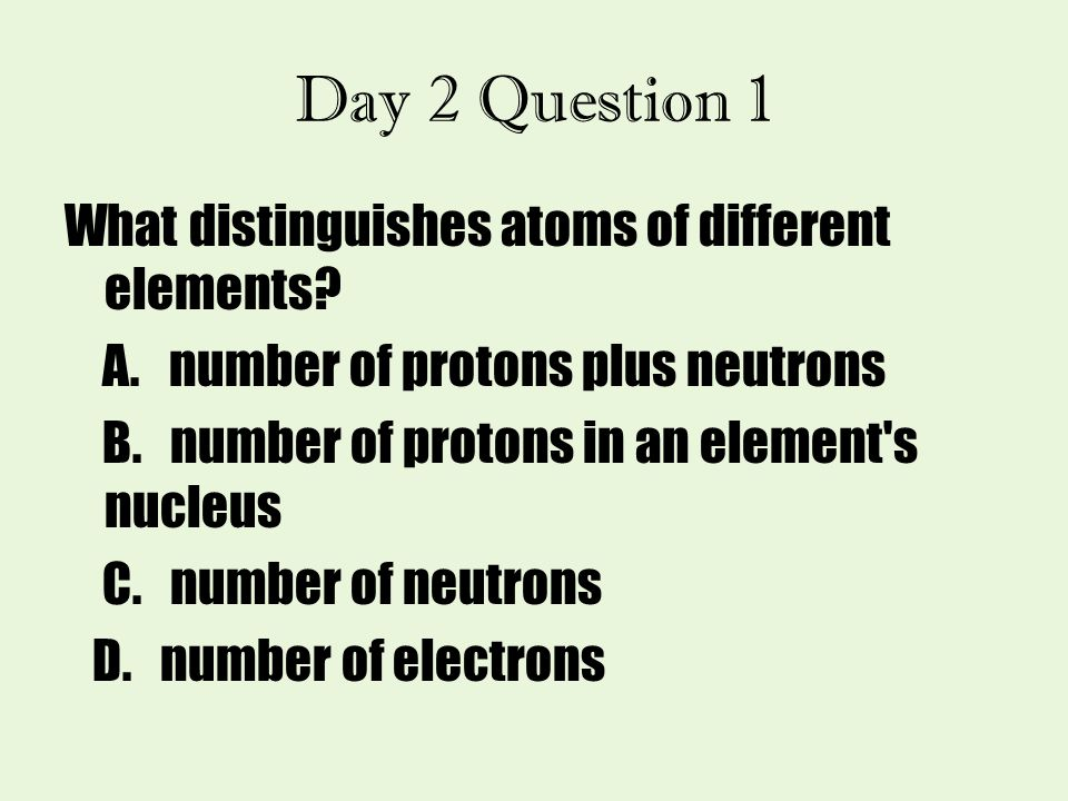 Day 2 Question 1