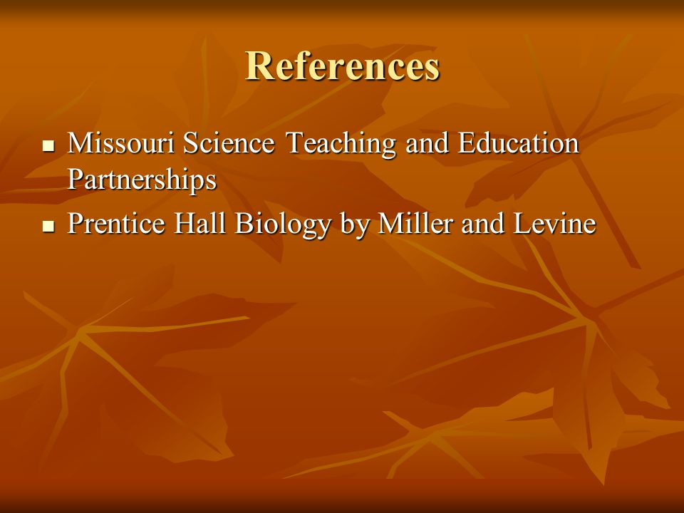 References Missouri Science Teaching and Education Partnerships