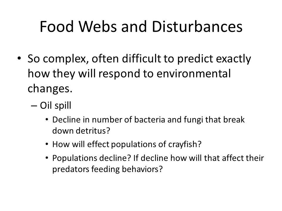 Food Webs and Disturbances