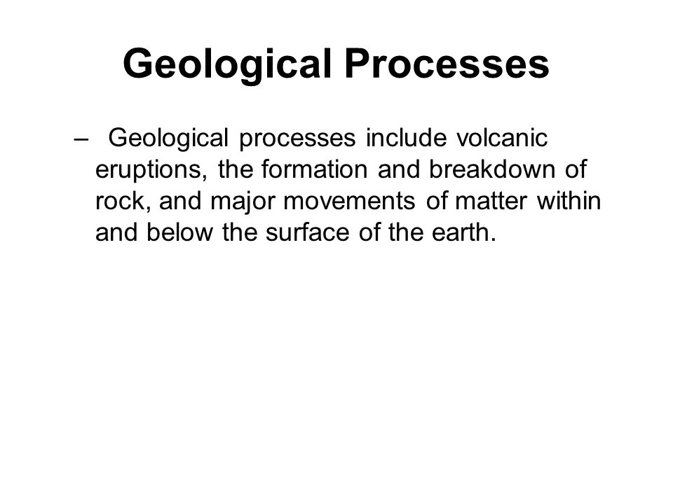 Geological Processes