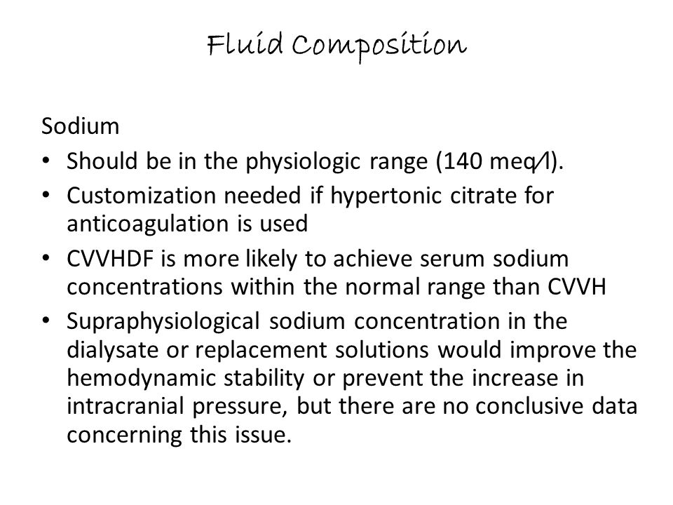 Fluid Composition Sodium