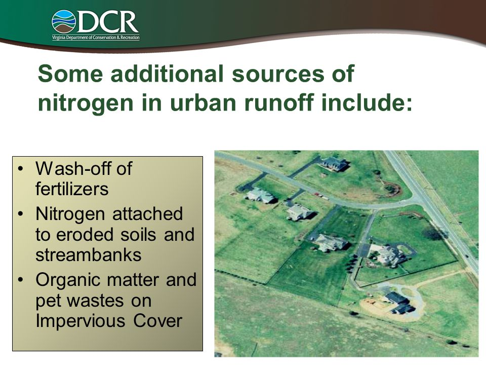 Some additional sources of nitrogen in urban runoff include: