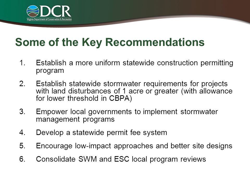 Some of the Key Recommendations