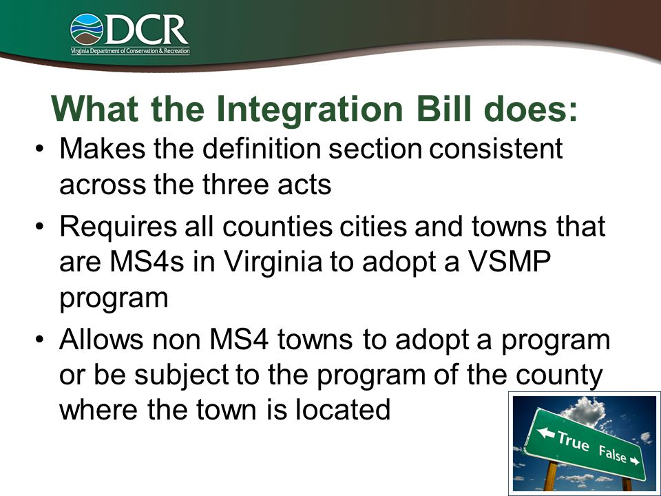 What the Integration Bill does: