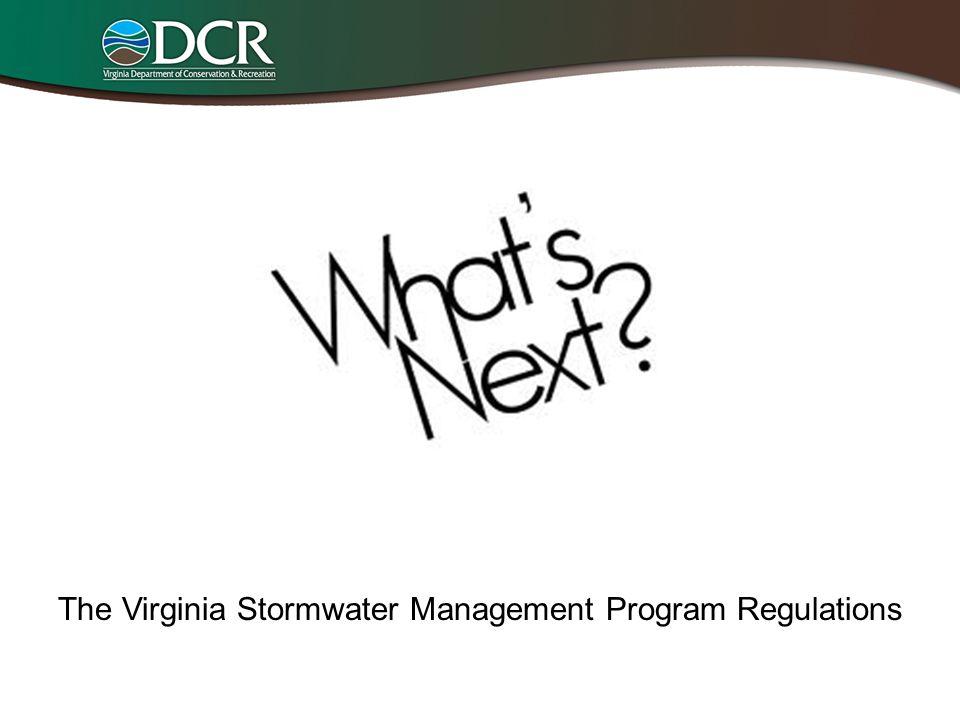 The Virginia Stormwater Management Program Regulations