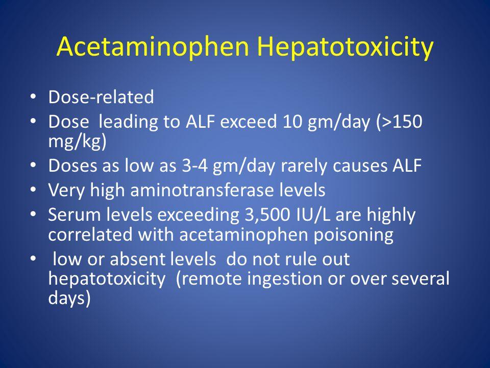 Acetaminophen Hepatotoxicity