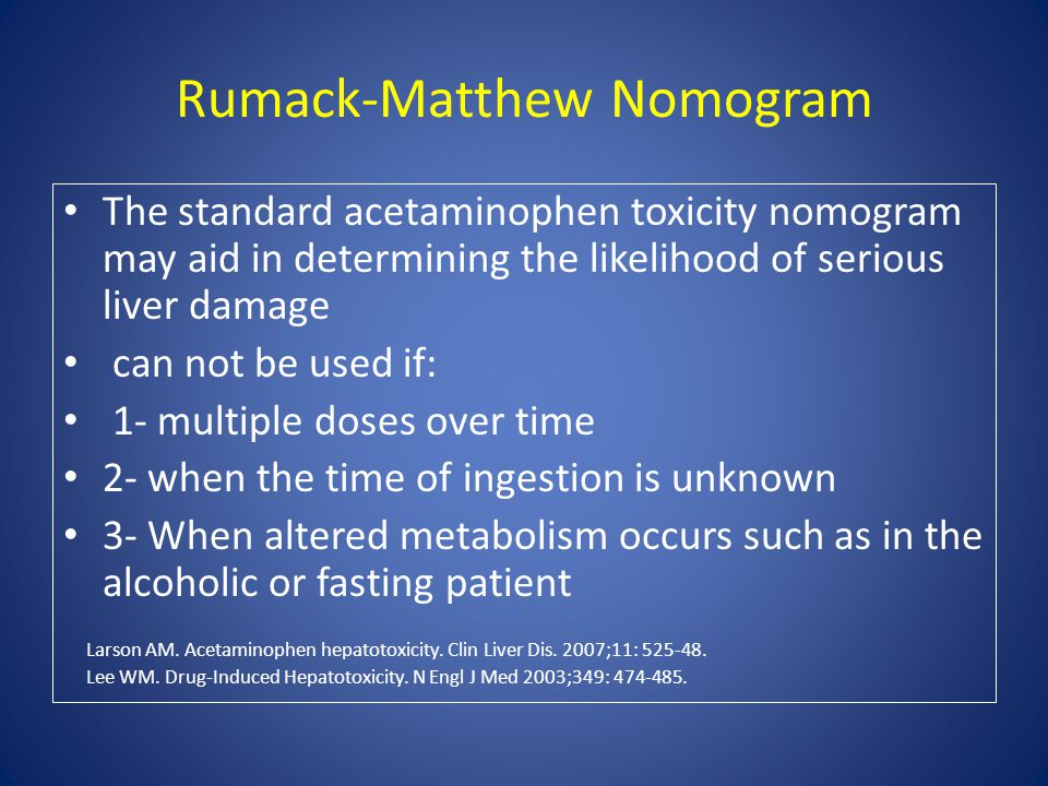 Rumack-Matthew Nomogram