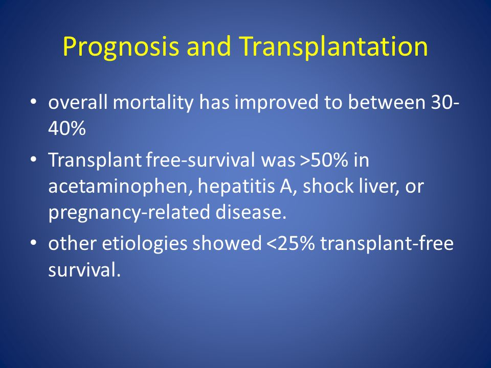 Prognosis and Transplantation