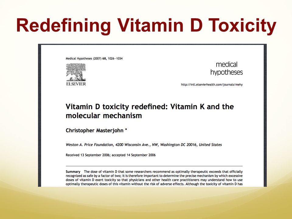 Redefining Vitamin D Toxicity