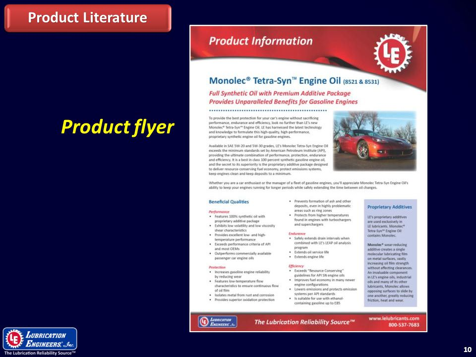 Product Literature Product flyer