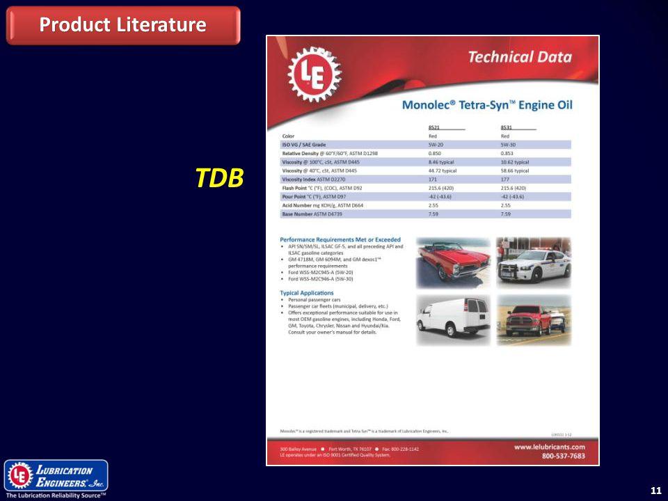Product Literature TDB