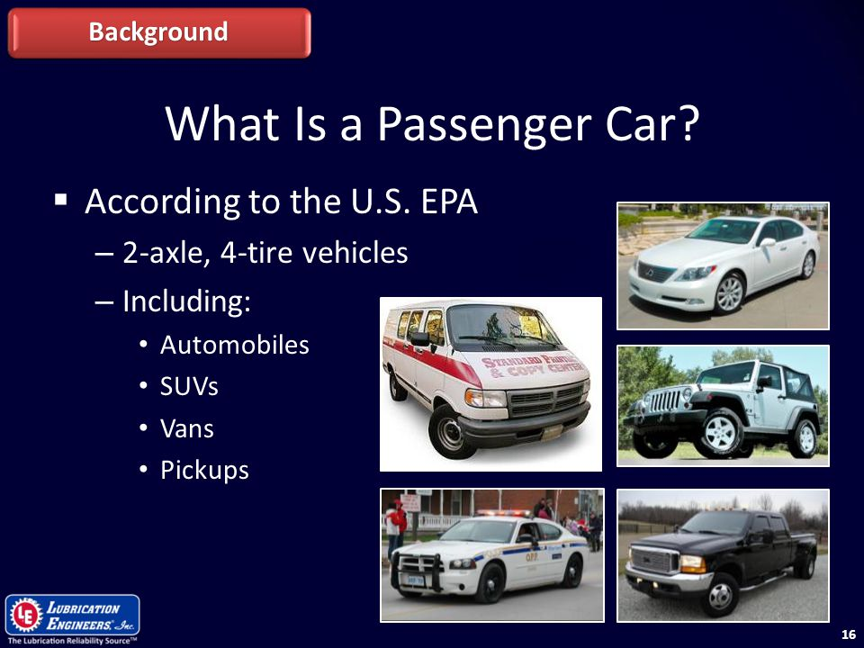 What Is a Passenger Car According to the U.S. EPA