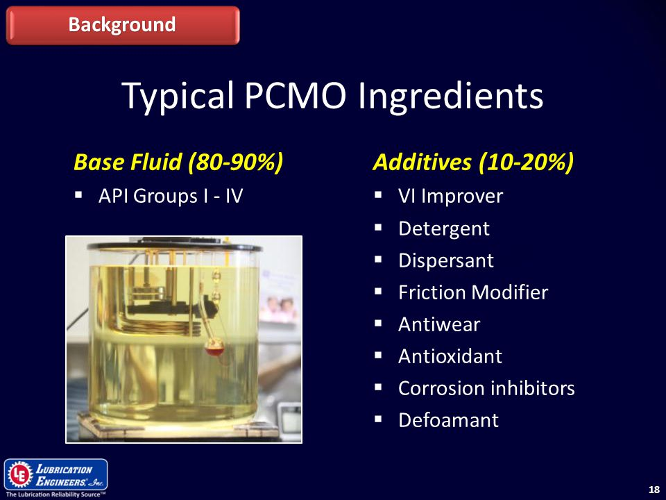 Typical PCMO Ingredients