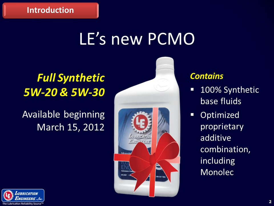 LE's new PCMO Full Synthetic 5W-20 & 5W-30