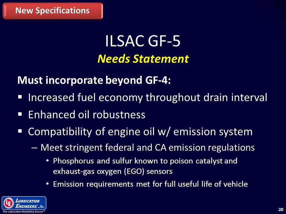 ILSAC GF-5 Needs Statement