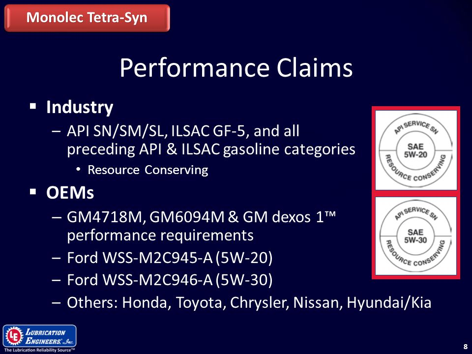 Performance Claims Industry OEMs
