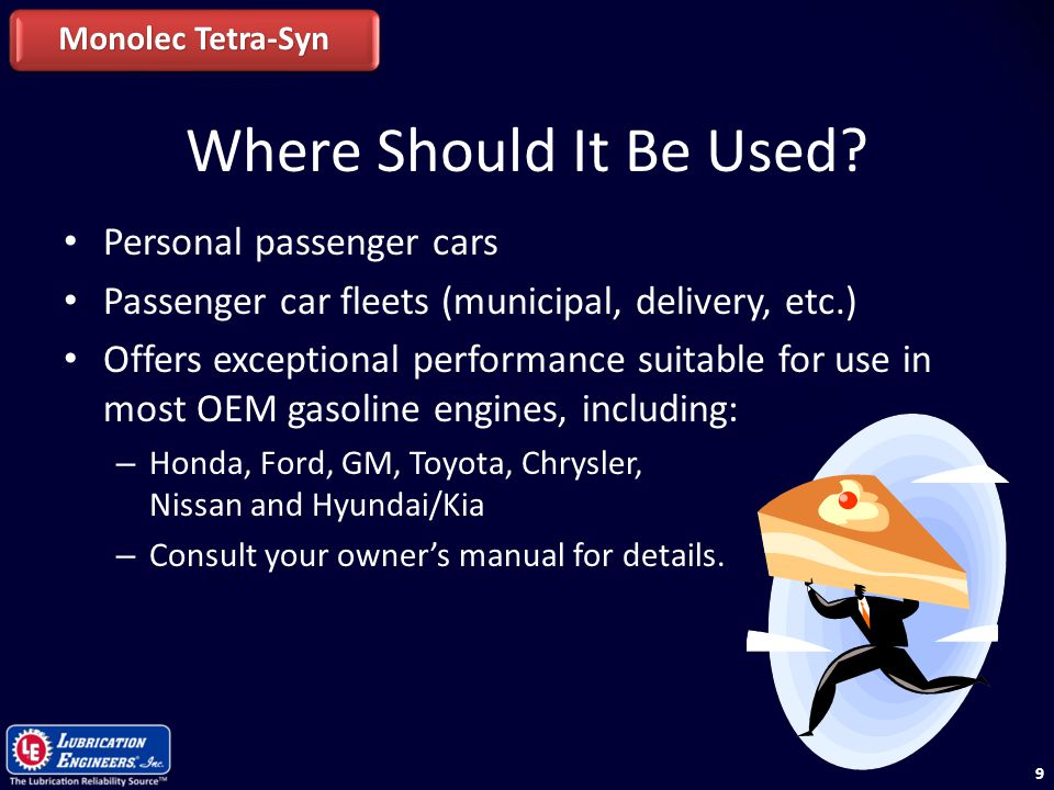 Where Should It Be Used Personal passenger cars