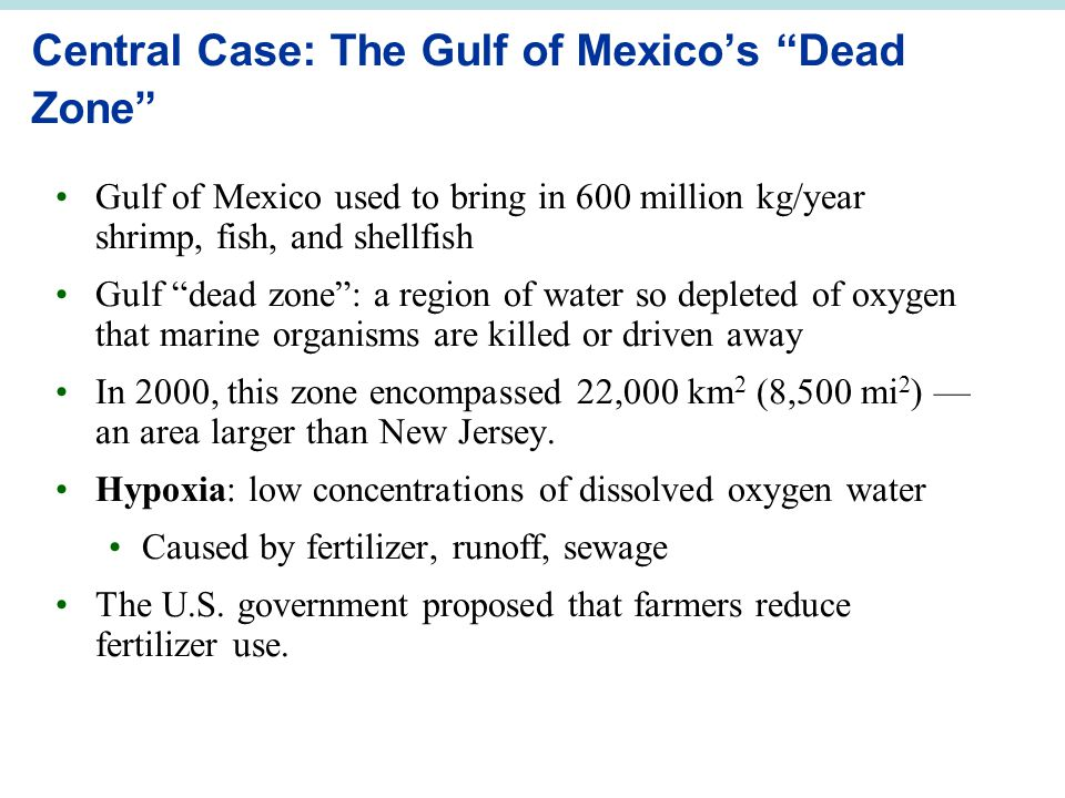 Central Case: The Gulf of Mexico's Dead Zone
