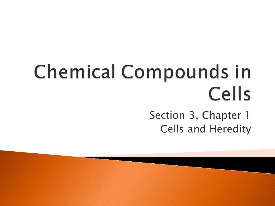 Chemical Compounds in Cells
