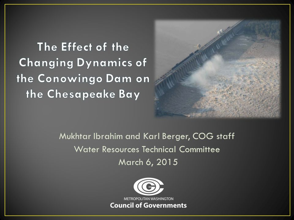The Effect of the Changing Dynamics of the Conowingo Dam on the Chesapeake Bay