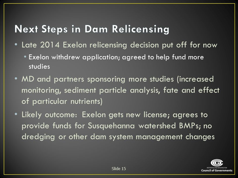 Next Steps in Dam Relicensing