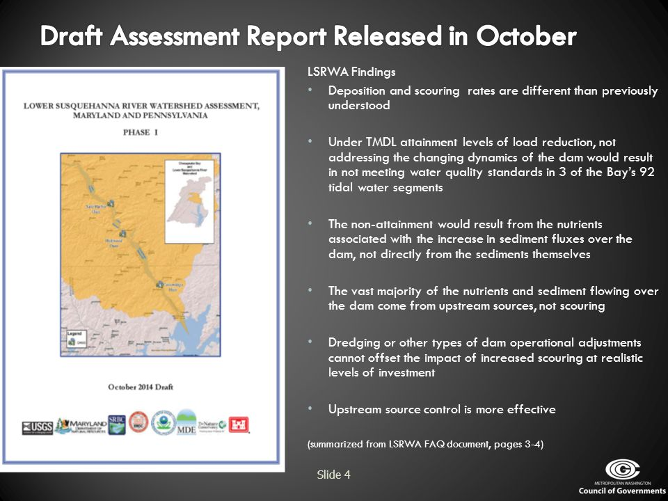 Draft Assessment Report Released in October
