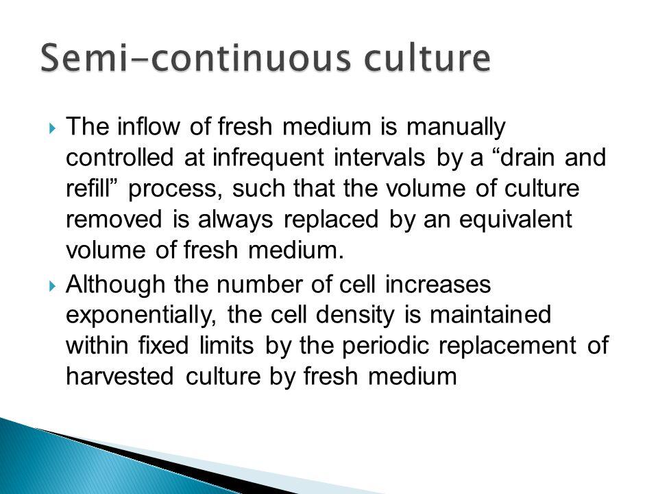 Semi-continuous culture
